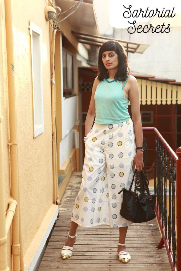 Outfit of the day culottes + crop top