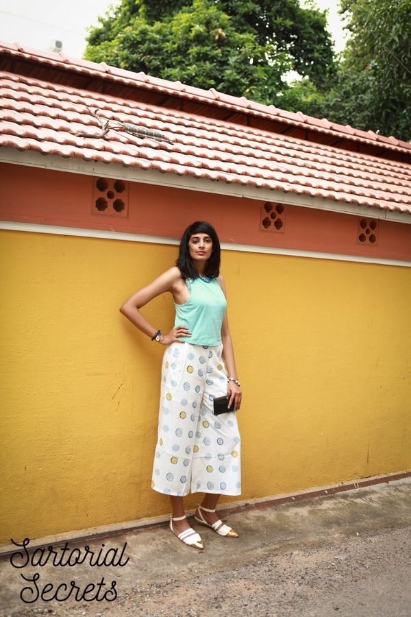 Outfit of the day - culottes & crop top