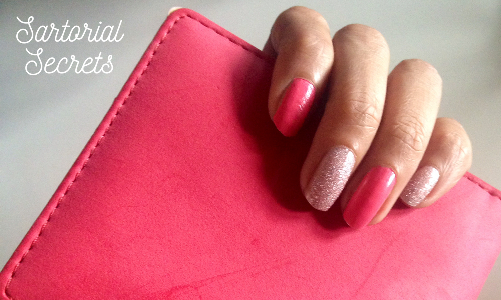 Monday Manicures: Sparkle and a Pop of Pink!