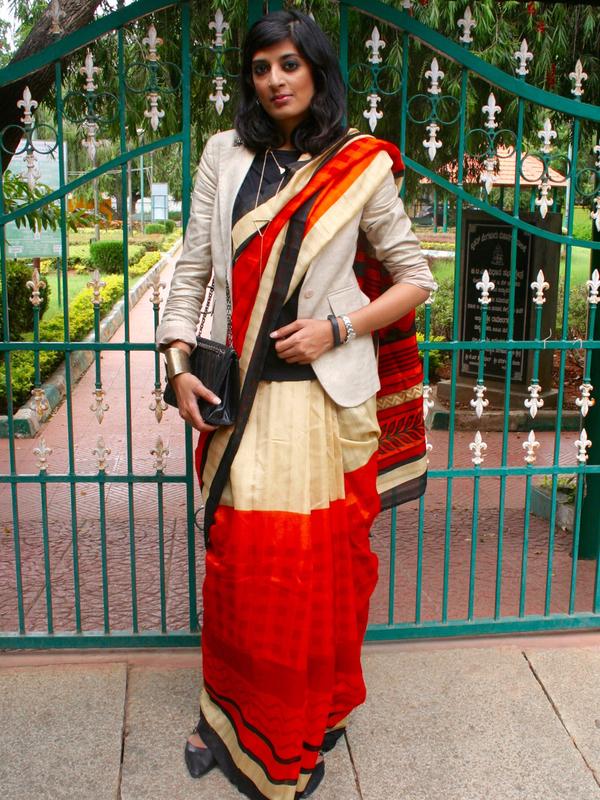 Triveni Ethnics Sari OOTD