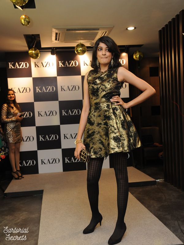 Walking the ramp at the Kazo Autumn Winter Collection Preview