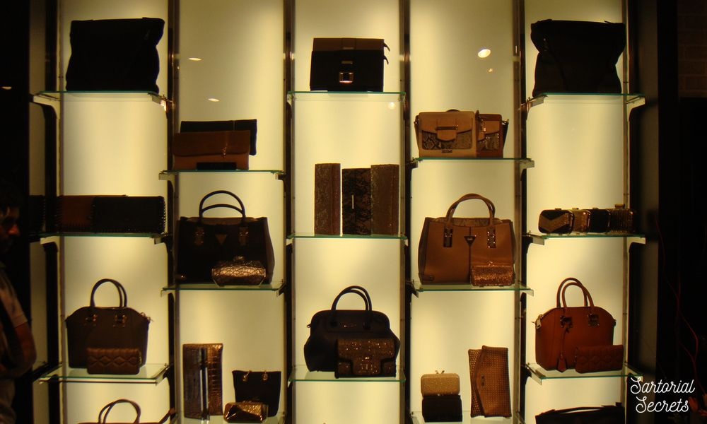 Bags on display at the Kazo Autumn Winter Collection Preview