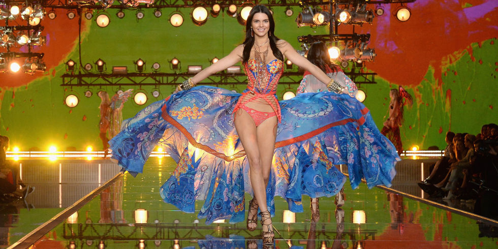 Kendall Jenner at the Victoria's Secret Fashion Show 2015