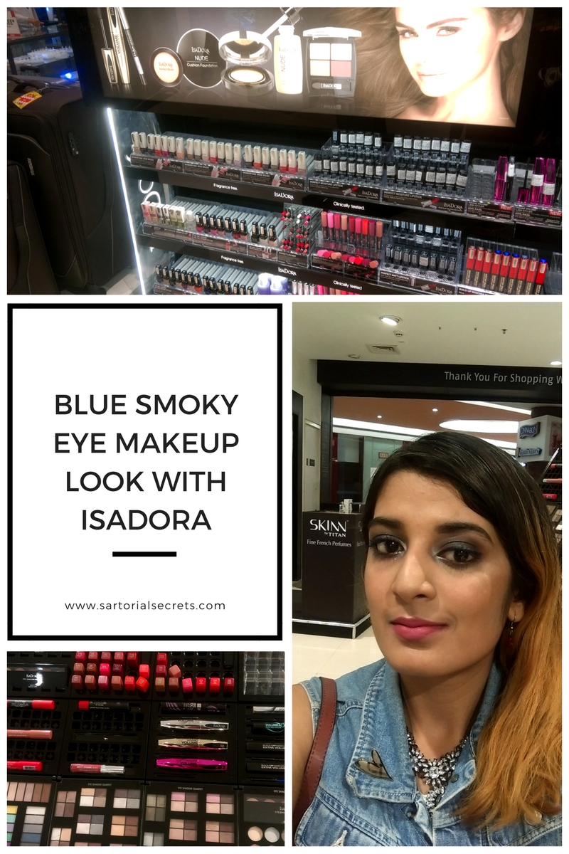 Blue Smoky Eye Look With Isadora Cosmetics