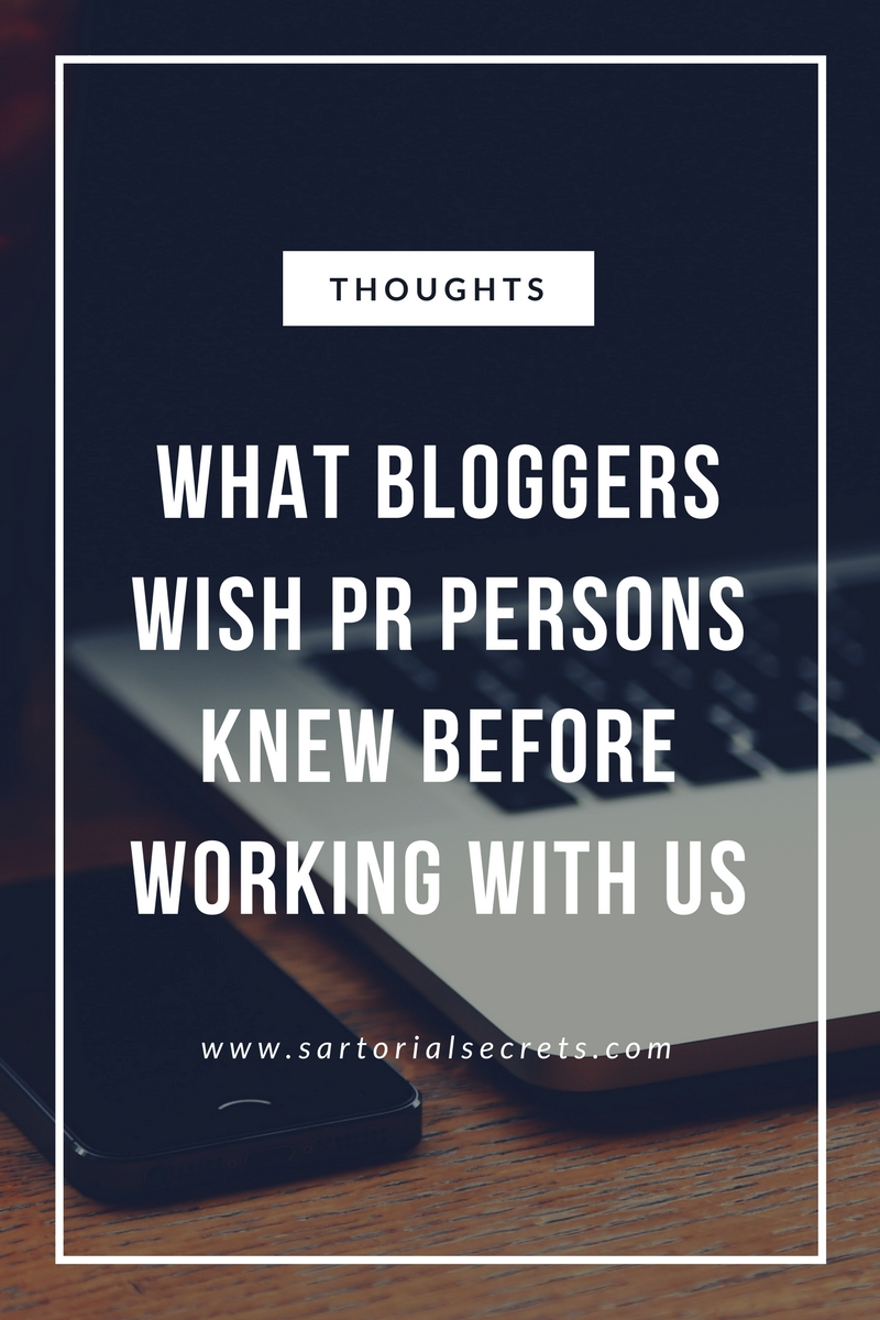 What All Bloggers Wish PRs Knew Before Working With Us