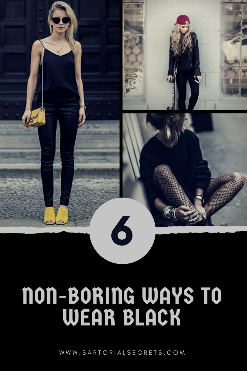 6 Non-Boring Ways to Wear Black