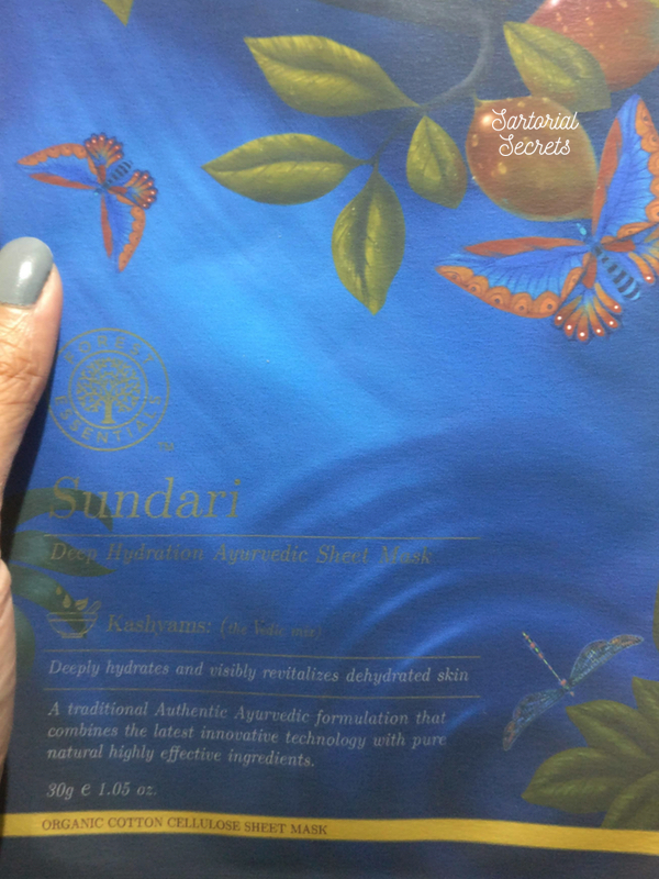 forest essentials sheet mask sundari